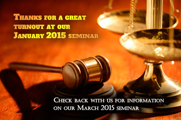 Thank You for Attending our January 2015 Seminar: Courtroom Practices & Pitfalls for Fire Investigators!