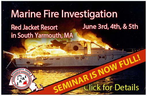 Thank You for Attending Our June Seminar: Marine Fire Investigation!